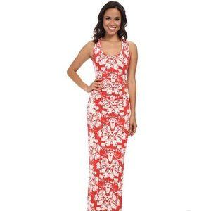 Nicole Miller Origami Maxi Jersey Dress Sz Med
